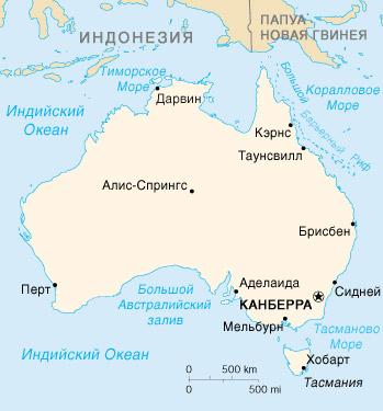 Австралия, карта австралии
