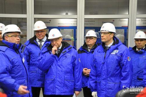 Череповецкую площадку «северстали» посетил полпред президента россии александр беглов