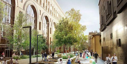 Новая пешеходная зона объединит шесть улиц в центре москвы
