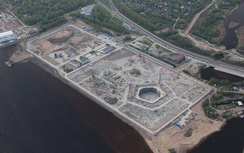 Репортаж со стройки: как будет выглядеть небоскреб газпрома в петербурге