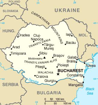 Румыния, карта румынии
