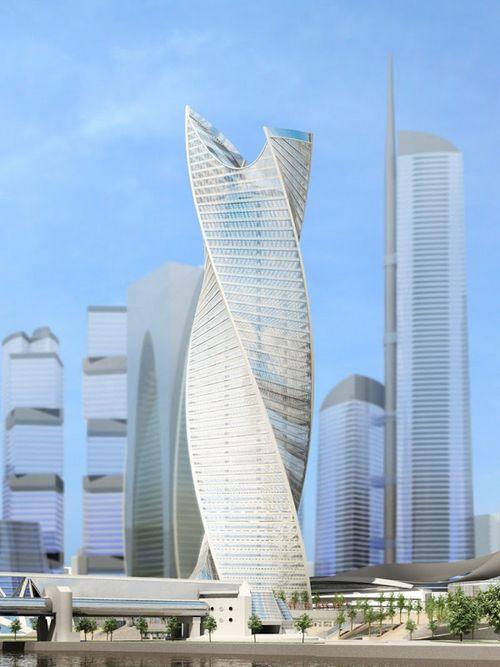 Спиральная башня cayan