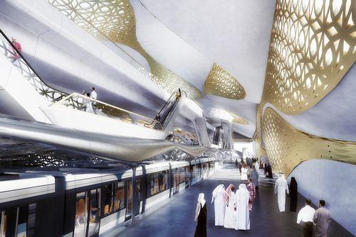 Станцию метро из золота построят в саудовской аравии