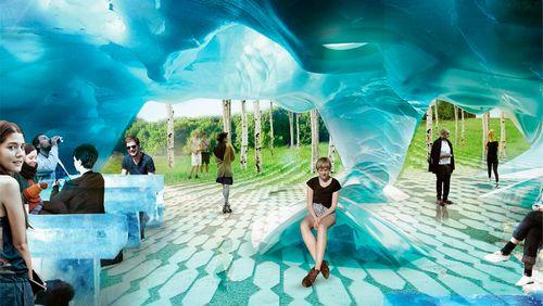 В «зарядье» раскрыли детали строительства круглогодичной ледяной пещеры